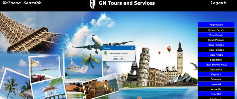 Cover image for JAVA Semester Project | Review Plsss! |  GN Tours and Services