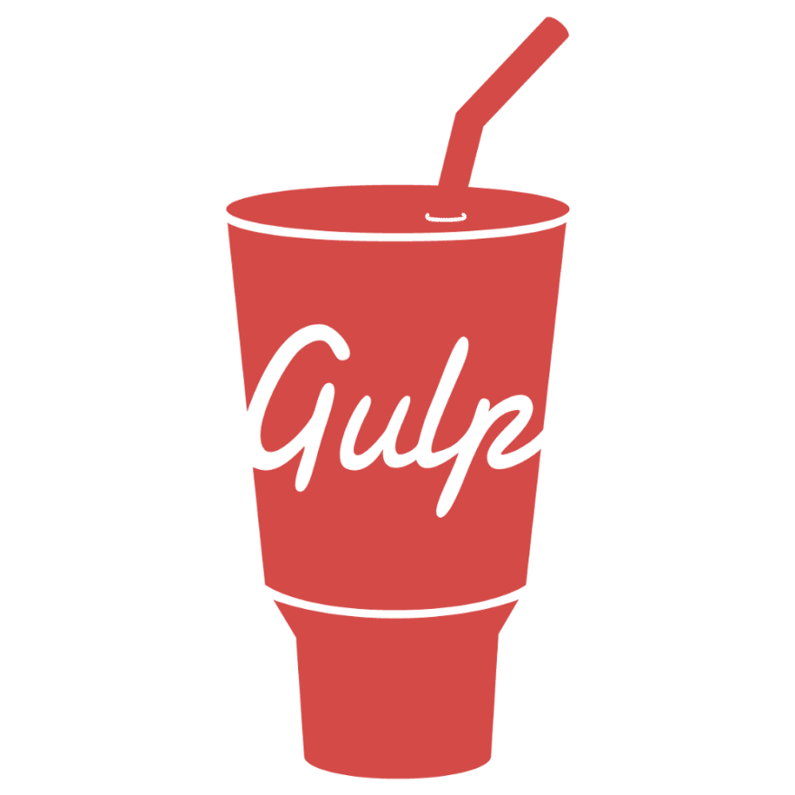 an image of a pink cup with the word gulp on it