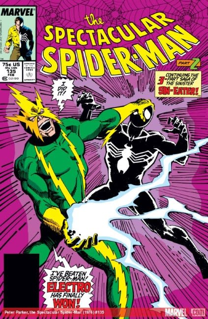 Spier-Man comic cover from 1988