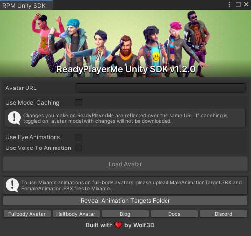 Ready Player Me Unity 3D Avatar SDK