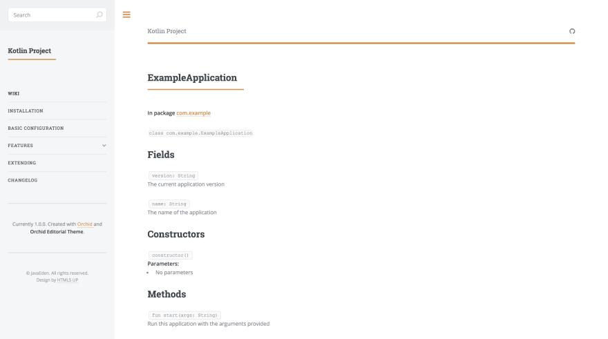 Kotlin Class page