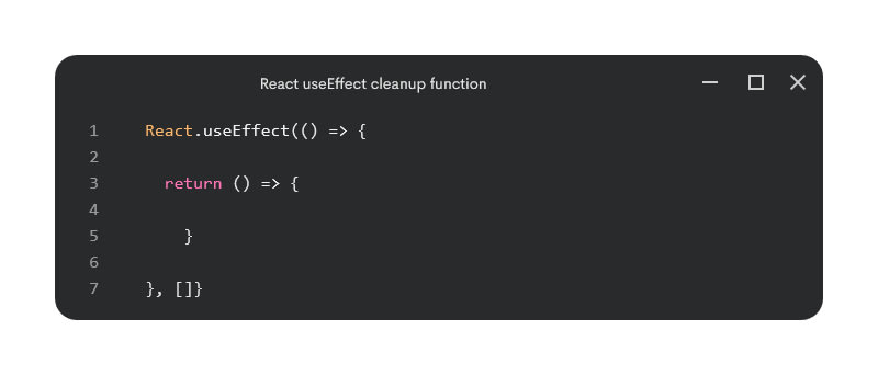 useEffect cleanup function