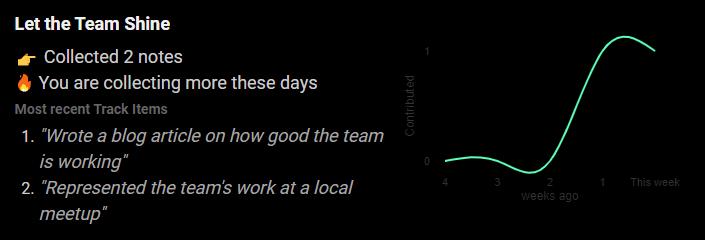Analytics element of getworkrecognized
