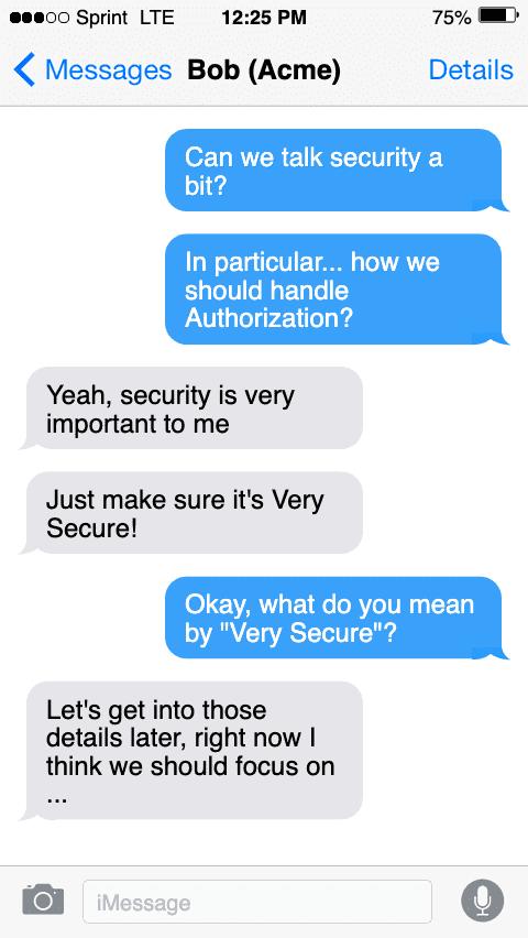 Authorization Conversation