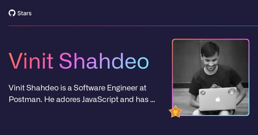 Vinit Shahdeo | GitHub Star