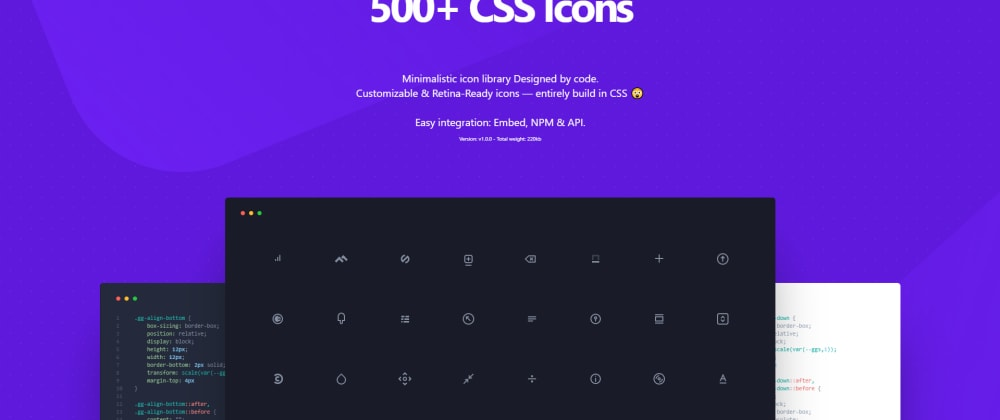 Cover image for 500 CSS Icons - css.gg