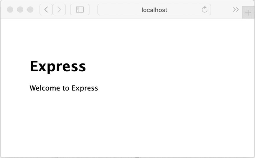 Express Welcome Page