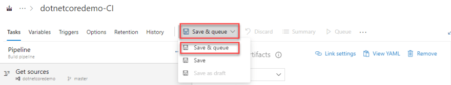 save and queue
