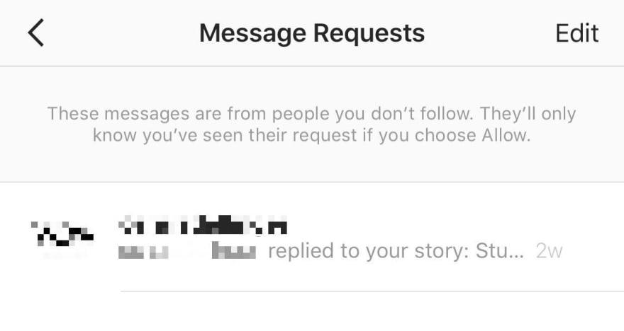 Instagram Direct Pending Message