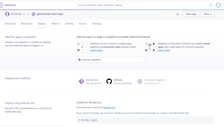 Connect to GitHub