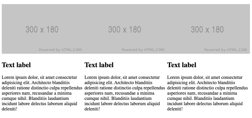 Layout using CSS flexbox