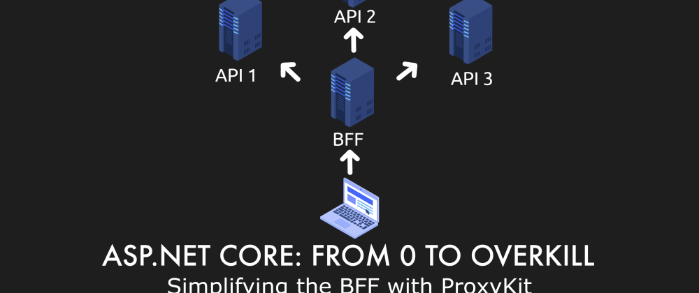 Cover image for Episode 029 - Simplifying the BFF with ProxyKit - ASP.NET Core: From 0 to overkill