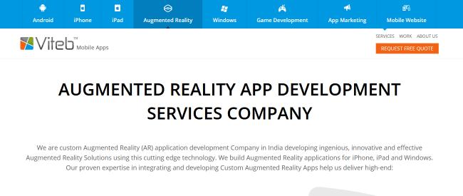VitebMobileApps-Best Augmented Reality Game App Development Company