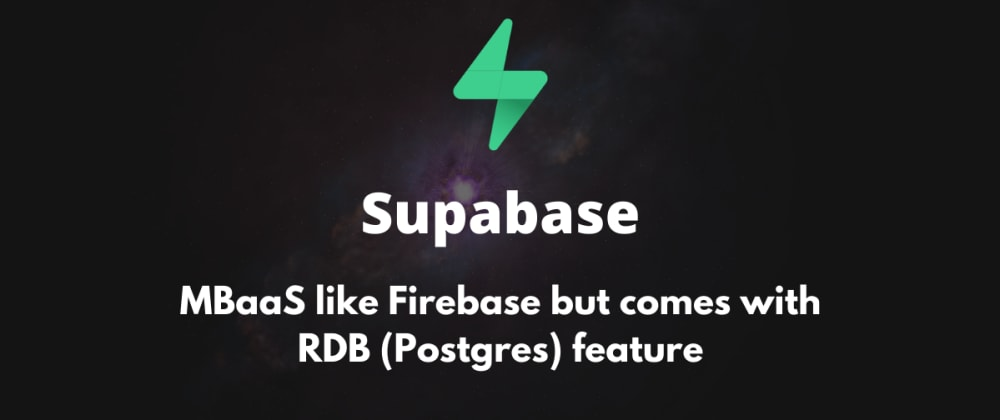 Cover image for My first impression of Supabase - The better version of Firebase!?