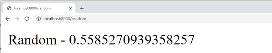 Django Routing - Random number returned to the user.