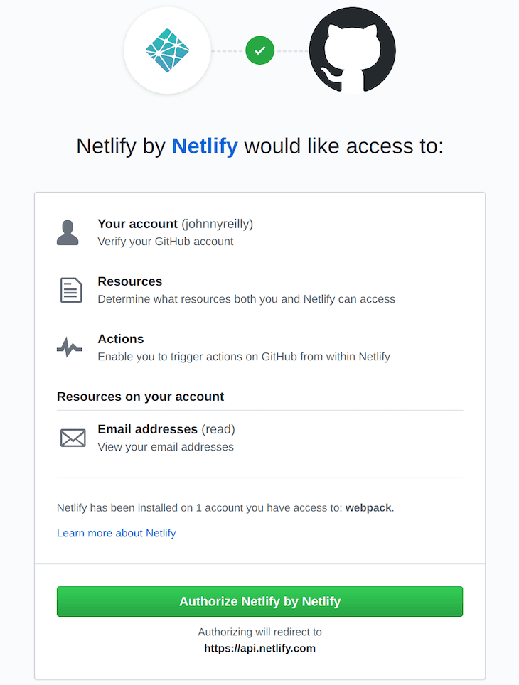 Authorize Netlify To Access GitHub
