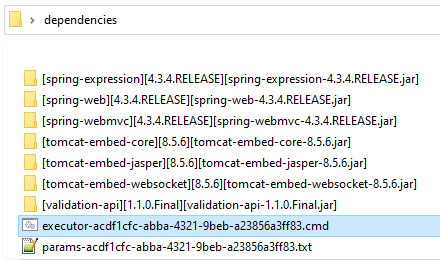extracted dependencies folder