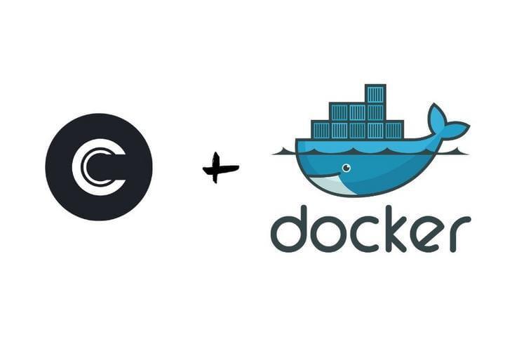 Commento Logo with Docker Logo