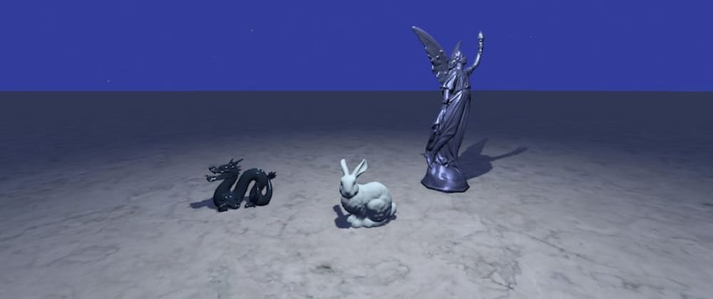 Cover image for A physically based scene with three.js