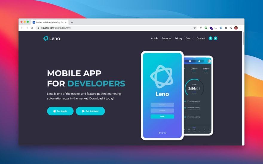 Leno HTML template