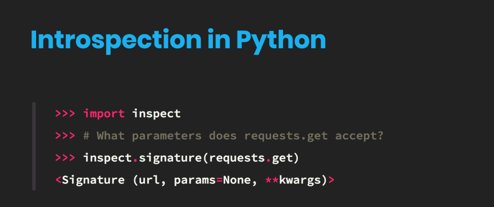 Cover image for Python objects speak for themselves