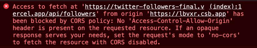 CORS error