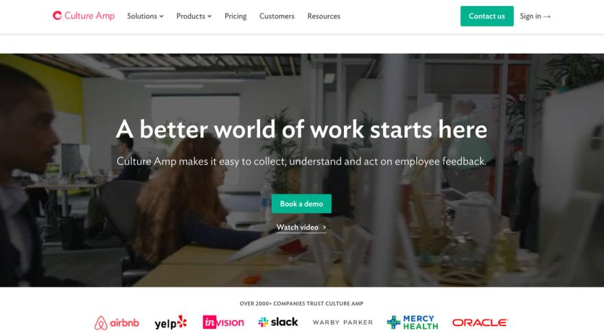 Cultural Amp employee feedback platform