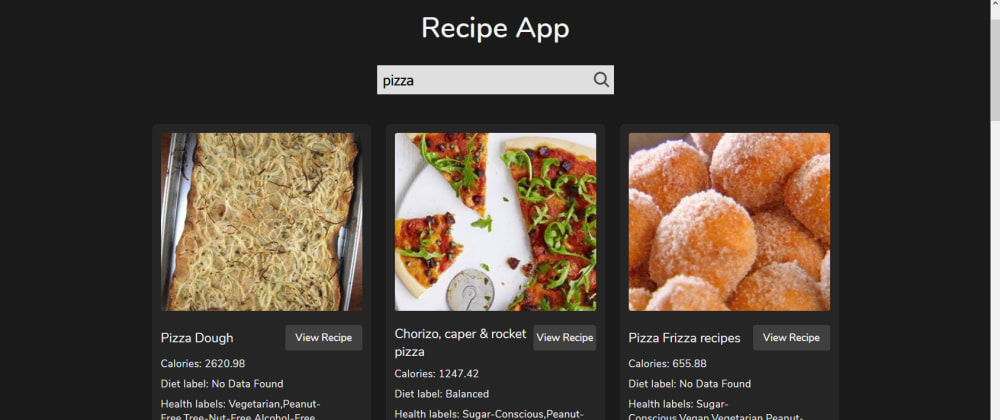 Cover image for Food Recipe App #30days30submits #day-22
