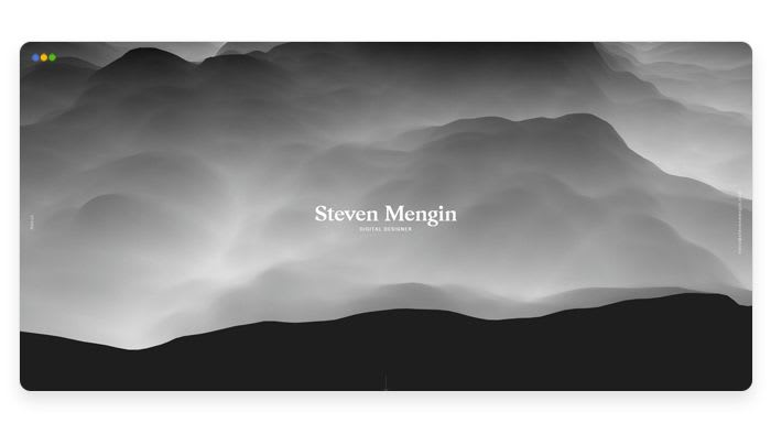 screenshot depicting the portfolio of Steven Mengin