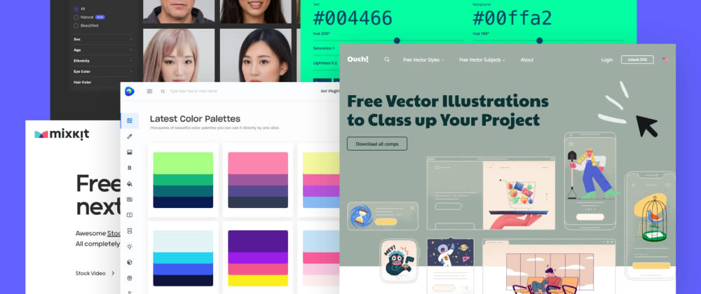 Cover image for 50+ free tools and resources to create awesome user interfaces