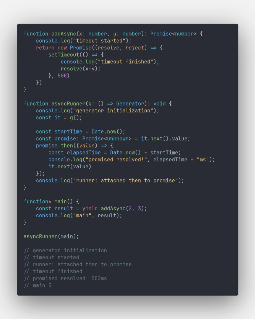 Basic implementation with promises