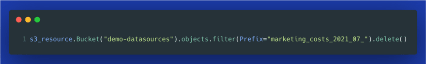 delete s3 objects