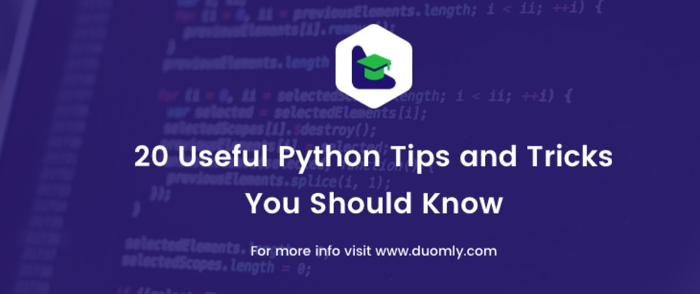 Cover image for 20 useful Python tips and tricks you should know