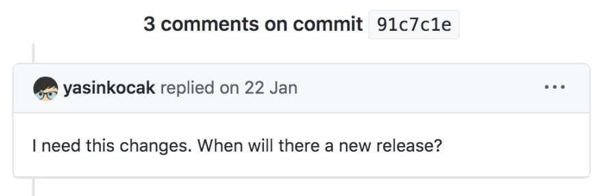 Comment on last commit