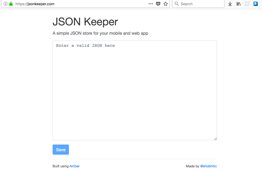 JSON Keeper - A simple JSON hosting store for your web and mobile apps