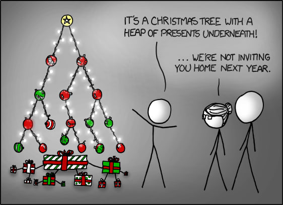 A Christmas Binary Tree with a Heap of presents underneath - XKCD 835
