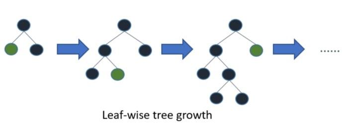 Diagram Illustrating Leaf-wise Tree Growth