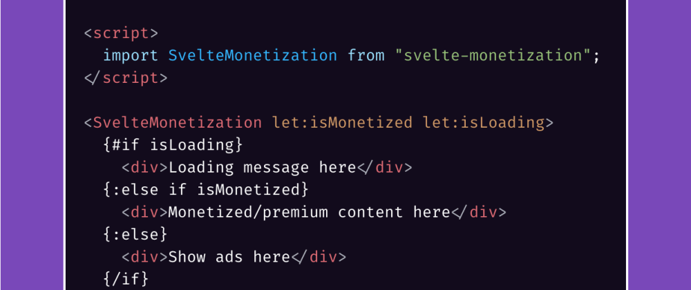 Cover image for svelte-monetization - A minimal and lightweight wrapper for the Web Monetization API 💸
