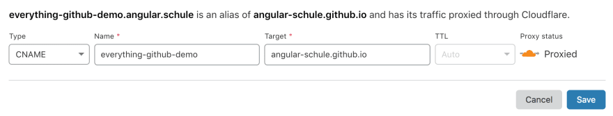 Screenshot Cloudflare