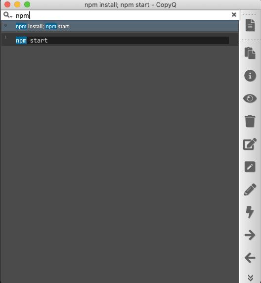 Search through clipboard entries on mac