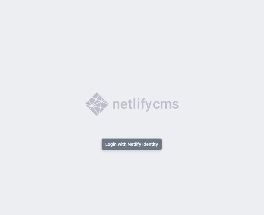 Netlify CMS Admin Page