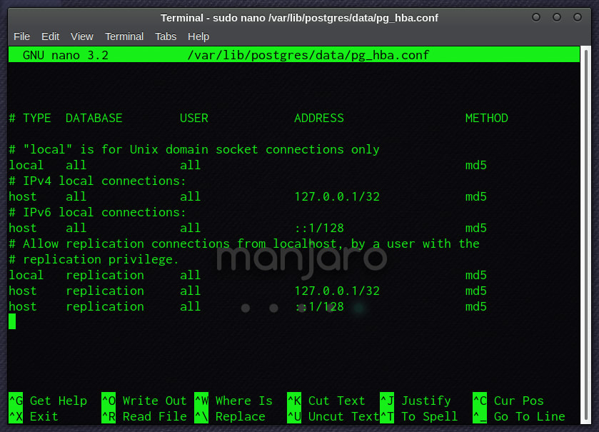 PostgreSQL Client Authentication Configuration File