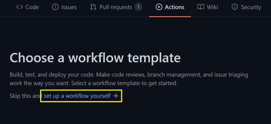 Create GitHub actions