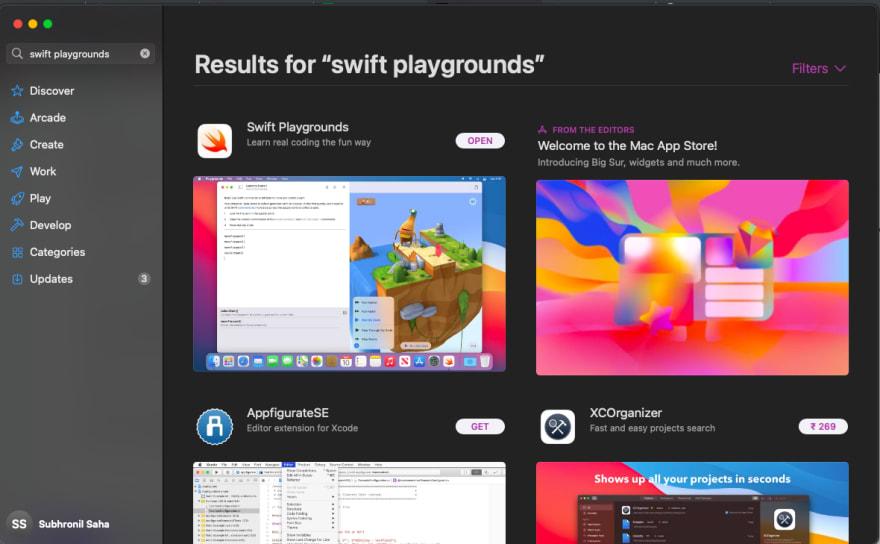 Swift Playgrounds on Mac App Store