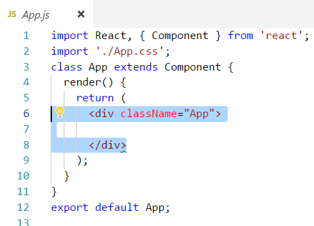 Content of App js class