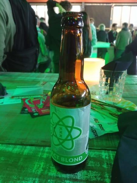React Blond beer