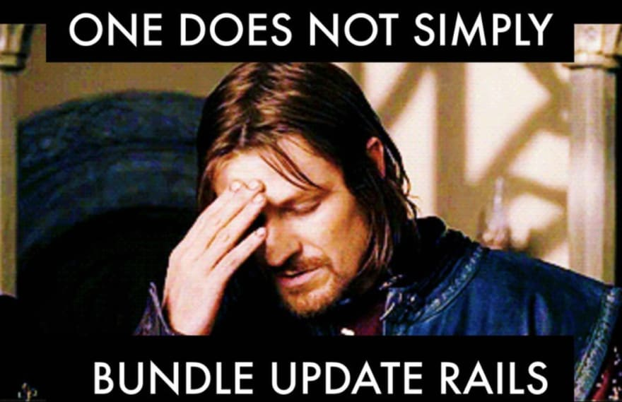 One does not simply bundle update rails