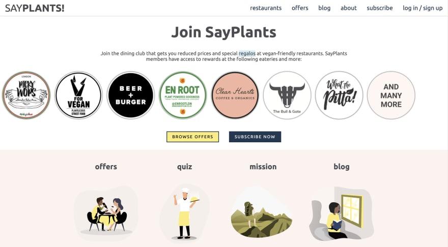 SayPlants Landing Page 2