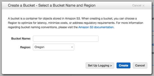 AWS Create Bucket