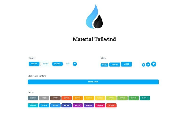 Material Tailwind - Open-source React UI Kit.